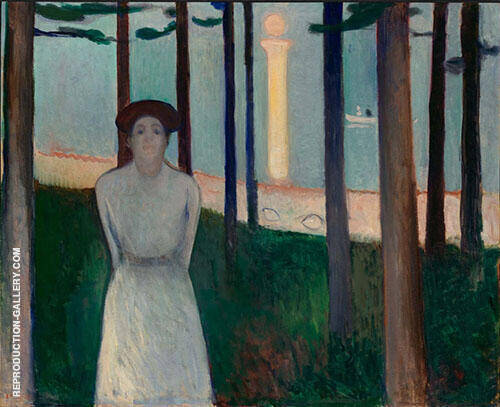 The Voice Summer Night's Dream 1893 By Edvard Munch Replica Paintings on Canvas - Reproduction Gallery