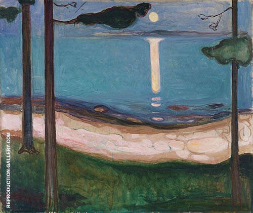 Moonlight 1895 By Edvard Munch