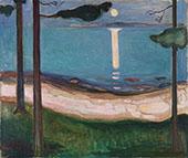 Moonlight 1895 By Edvard Munch