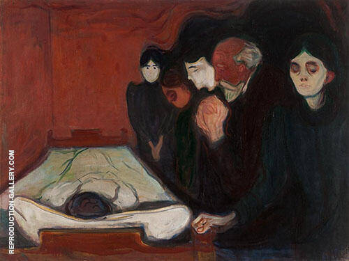 Reproduction of The Death Bed 1895 by Edvard Munch | Oil Painting Replica On CanvasReproduction Gallery