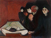 The Death Bed 1895 By Edvard Munch