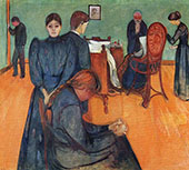 Death in The Sick Room c1893 By Edvard Munch