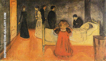 The Dead Mother and The Child c1897 Painting By Edvard Munch