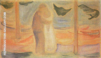 Couple on The Shore from The Reinhardt Frieze c1906 By Edvard Munch - Oil Paintings & Art Reproductions - Reproduction Gallery