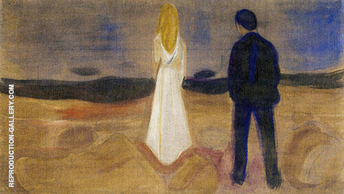 The Lonely Ones Summer Night from The Reinhardt Frieze c1906 By Edvard Munch