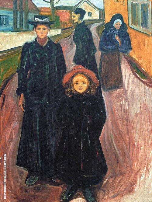 Four Ages in Life 1902 Painting By Edvard Munch - Reproduction Gallery