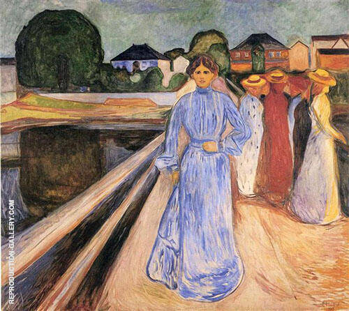 Woman on The Bridge 1902 By Edvard Munch Replica Paintings on Canvas - Reproduction Gallery