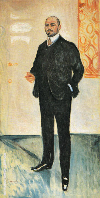 Walther Rathenau 1907 By Edvard Munch - Oil Paintings & Art Reproductions - Reproduction Gallery