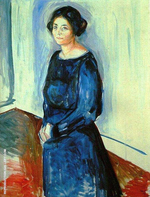 Woman in Blue Frau Barth 1921 By Edvard Munch