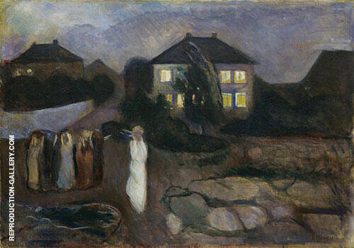 Reproduction of Stormy Night 1893 by Edvard Munch | Oil Painting Replica On CanvasReproduction Gallery