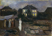 Stormy Night 1893 By Edvard Munch