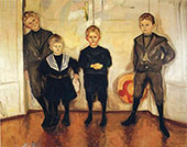 The Four Sons of Dr Linde 1903 By Edvard Munch