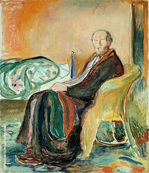 Self Portrait after Spanish Influenza 1919 By Edvard Munch