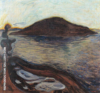 The Island c1900 By Edvard Munch