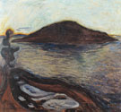 The Island c1900 By Edvard Munch
