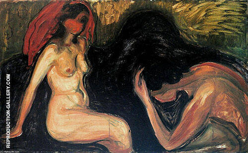 Man and Woman 1898 By Edvard Munch
