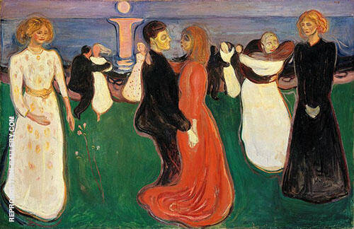 The Dance of Life c1899 By Edvard Munch Replica Paintings on Canvas - Reproduction Gallery