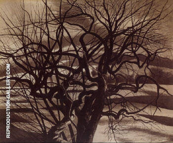 Arbres Blanc et Noir 1941 By Leon Spilliaert Replica Paintings on Canvas - Reproduction Gallery
