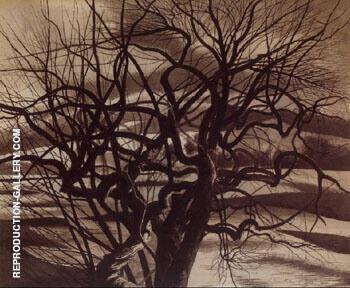 Arbres Blanc et Noir 1941 By Leon Spilliaert