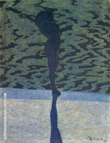 Bathing Woman 1910 By Leon Spilliaert Replica Paintings on Canvas - Reproduction Gallery