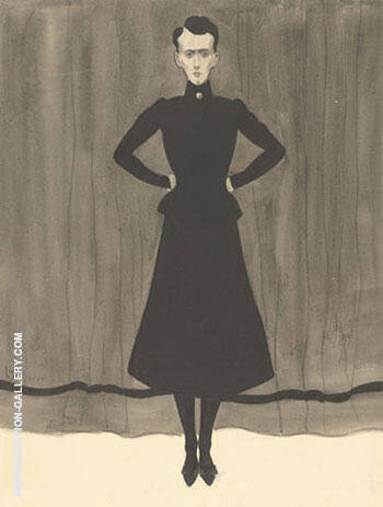 Femme en Pied By Leon Spilliaert Replica Paintings on Canvas - Reproduction Gallery