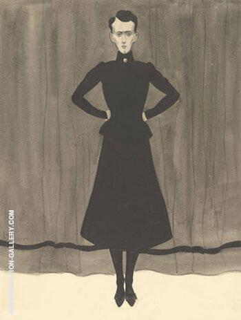 Femme en Pied By Leon Spilliaert