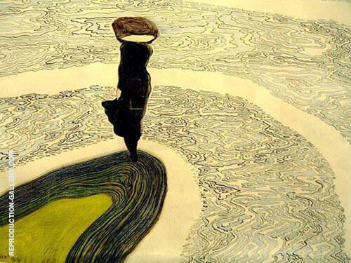 Femme Aubord de l'Eau 1910 By Leon Spilliaert