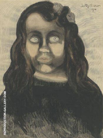 Fille de Pecheur By Leon Spilliaert Replica Paintings on Canvas - Reproduction Gallery