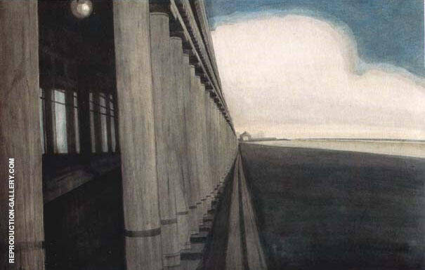 Galeries Royales d'Ostende Painting By Leon Spilliaert