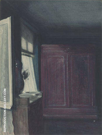 La Chambre A Coucher By Leon Spilliaert Replica Paintings on Canvas - Reproduction Gallery