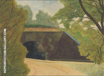 Le Tunnel By Leon Spilliaert Replica Paintings on Canvas - Reproduction Gallery