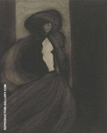 Le Vent By Leon Spilliaert Replica Paintings on Canvas - Reproduction Gallery