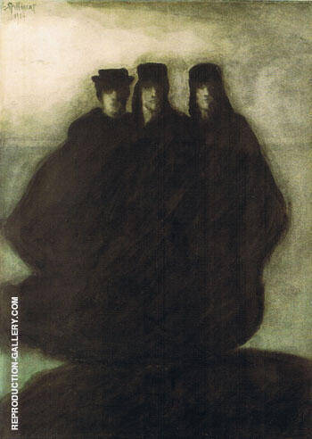 Les Trois Figures Painting By Leon Spilliaert - Reproduction Gallery