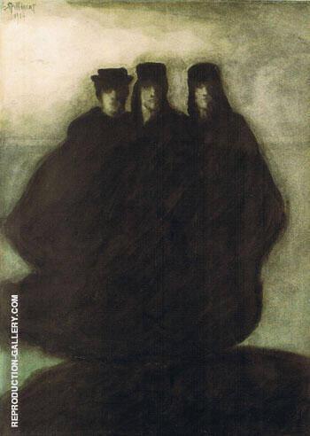 Les Trois Figures By Leon Spilliaert