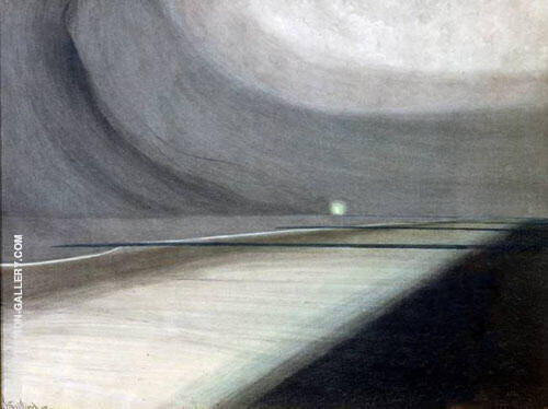 Moonlit Beach By Leon Spilliaert Replica Paintings on Canvas - Reproduction Gallery
