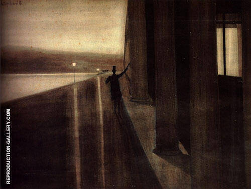 Night By Leon Spilliaert Replica Paintings on Canvas - Reproduction Gallery