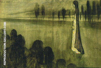 Paysage Miort Painting By Leon Spilliaert - Reproduction Gallery