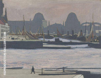 Port de Peche Ostende By Leon Spilliaert Replica Paintings on Canvas - Reproduction Gallery