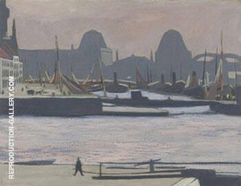 Port de Peche Ostende By Leon Spilliaert