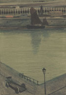 Port dOstende Quai Avec Chariot By Leon Spilliaert
