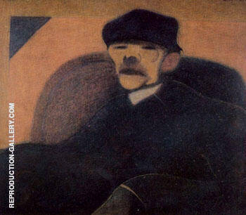 Portrait of Gorky by Leon Spilliaert | Oil Painting Reproduction Replica On Canvas - Reproduction Gallery