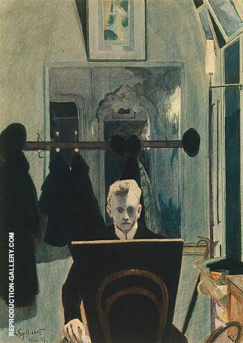 Self Portrait 1907 By Leon Spilliaert