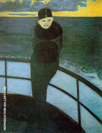 The Crossing Painting By Leon Spilliaert - Reproduction Gallery