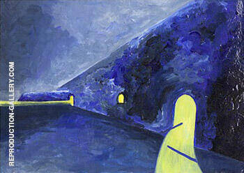 The Sea Wall Kursaal By Leon Spilliaert Replica Paintings on Canvas - Reproduction Gallery