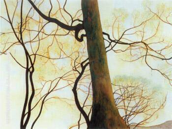 Tronc de Hetre et Branches Au 1930 By Leon Spilliaert Replica Paintings on Canvas - Reproduction Gallery