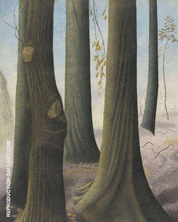 Troncs de Hetres By Leon Spilliaert Replica Paintings on Canvas - Reproduction Gallery