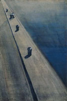 Wharf with Fisherman on a Mooring Post 1909 By Leon Spilliaert