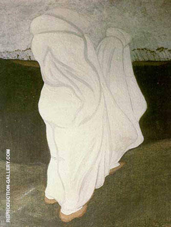 White Robes 1904 By Leon Spilliaert Replica Paintings on Canvas - Reproduction Gallery