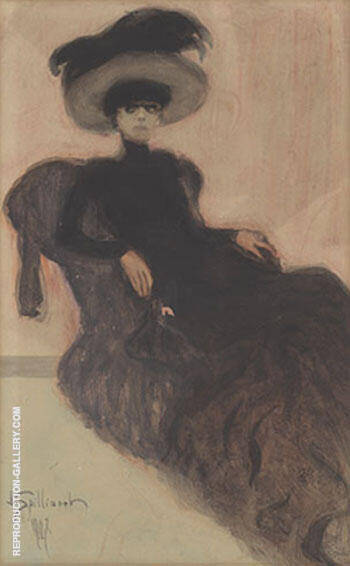Woman in a Hat 1907 By Leon Spilliaert