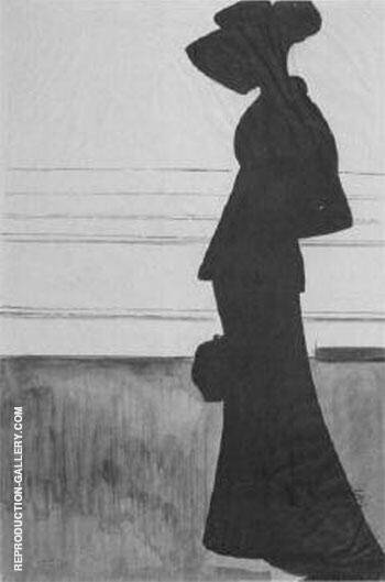 Woman with a Large Hat By Leon Spilliaert Replica Paintings on Canvas - Reproduction Gallery